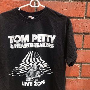 '14 Tom Petty & The Heartbreakers Blk Concert Tee